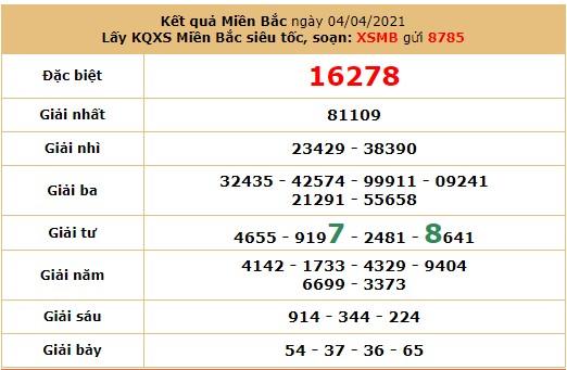 Soi cầu dự đoán XSMB 5/4/2021 hôm nay thứ 2 6